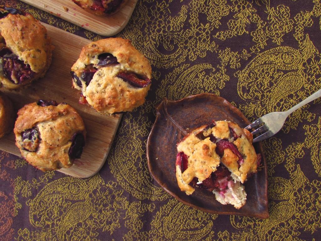 Schnelle Pflaumen-Chia-Muffins