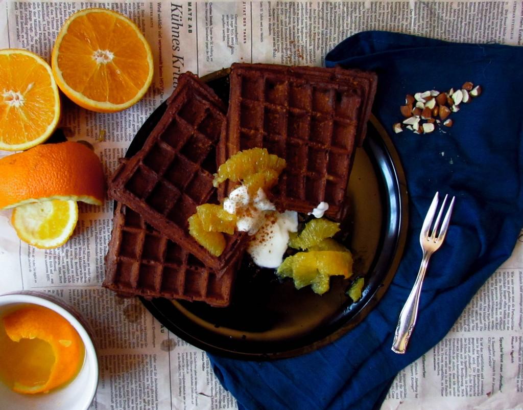 Knusprige Schoko-Orangenwaffeln (die perfekten!)