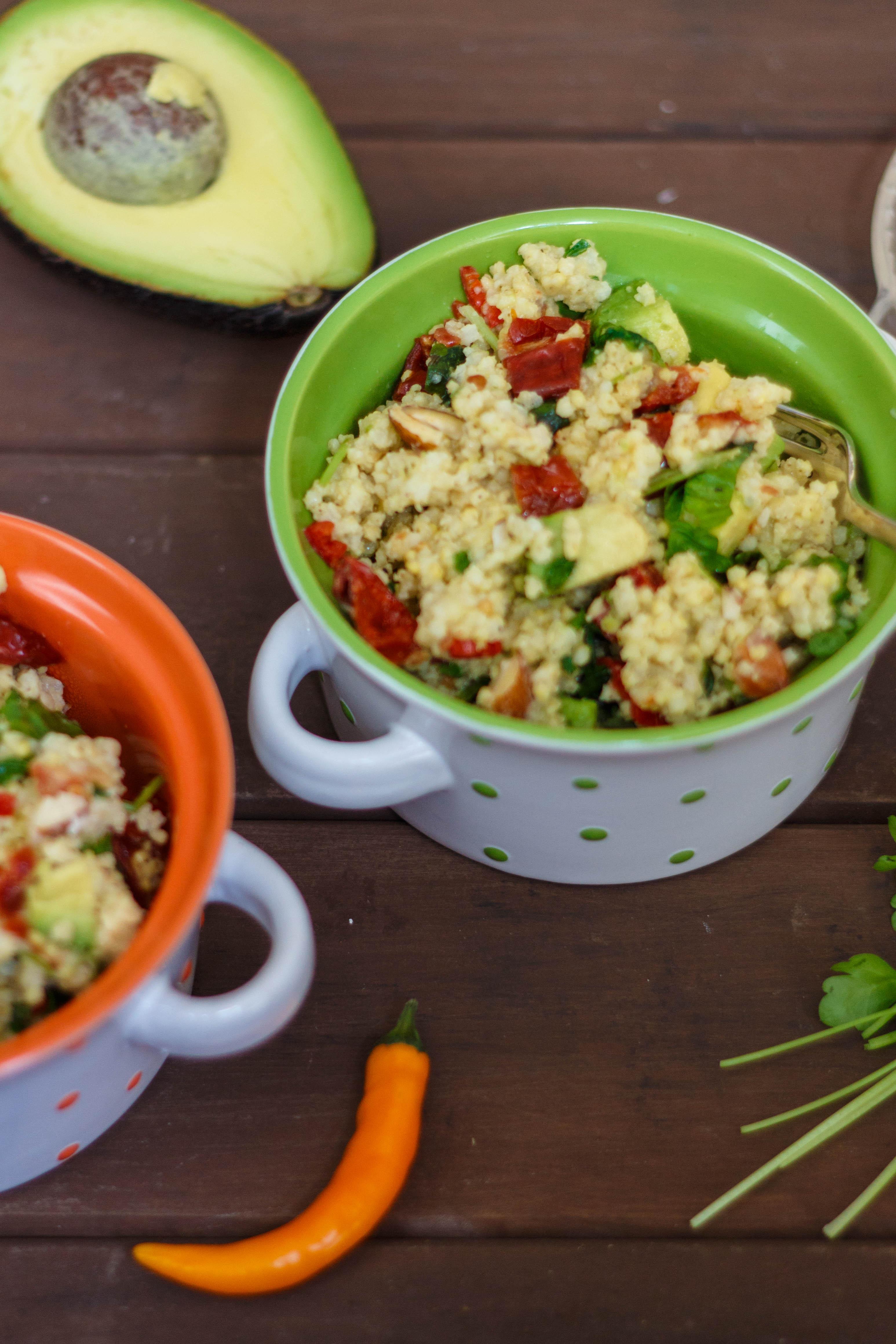 Hirse salat mediterran