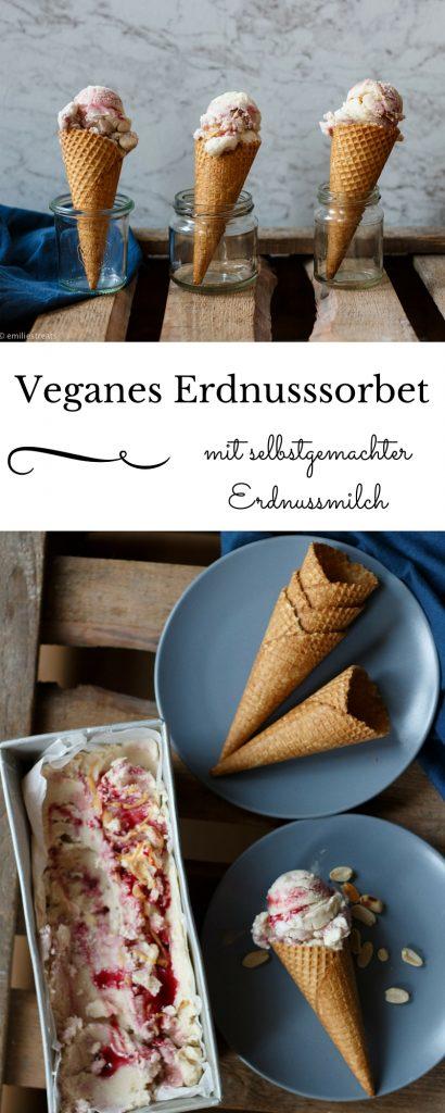 Erdnussmilch und ein Rezept für veganes Erdnusssorbet