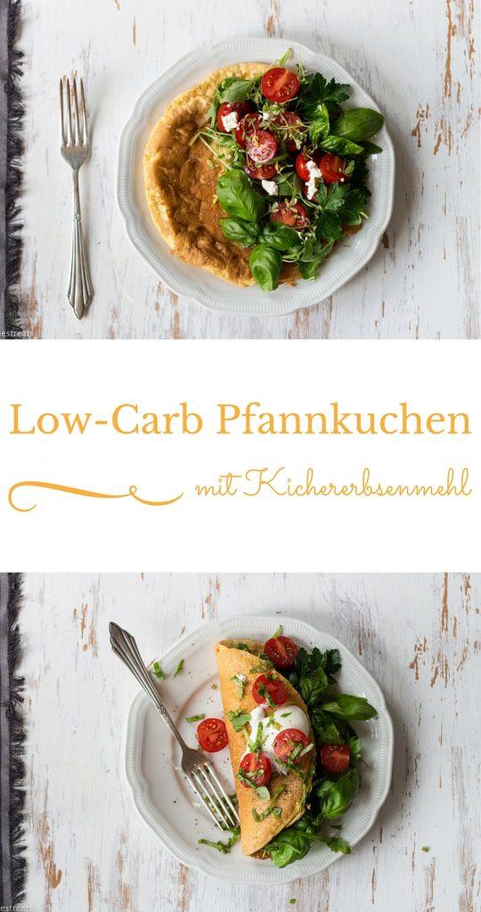 Low-carb Pfannkuchen mit Kichererbsenmehl