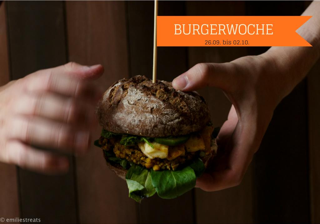 Veggie-XXL-Burger mit Hirsepatties und Petersilienpesto