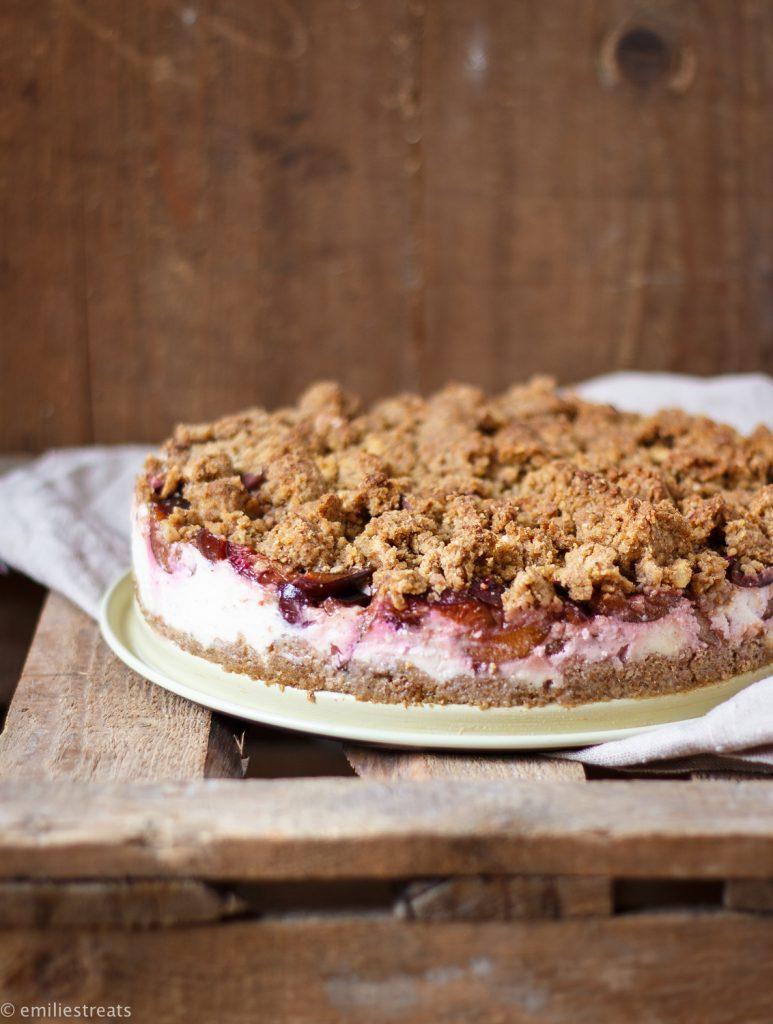 Gesunder Pflaumen-Cheesecake