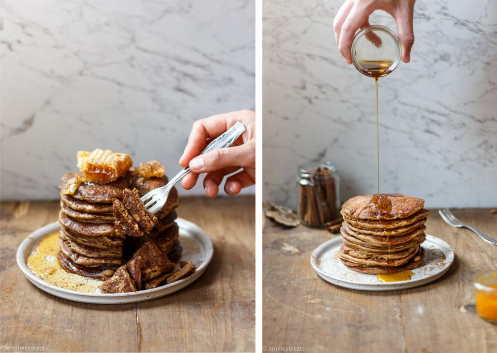 Glutenfreie Zimt-Pancakes