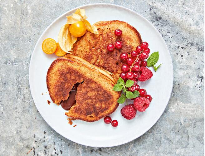 Lebkuchen-Pancakes mit flüssigem Schokokern & weniger Stress an Weihnachten