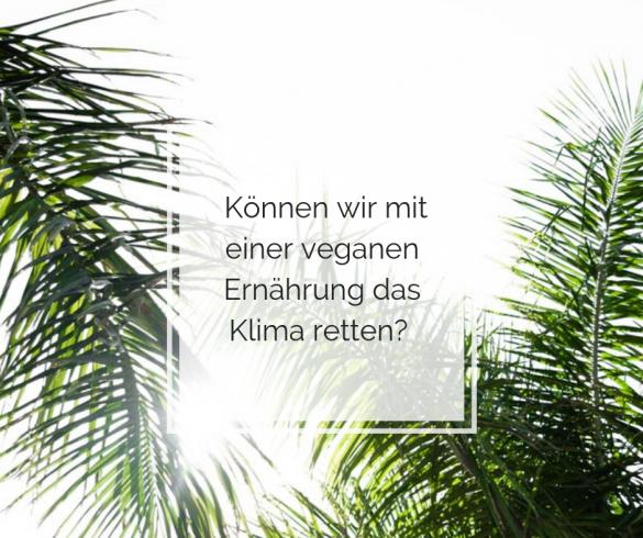 Können wir mit einer veganen Ernährung das Klima retten?