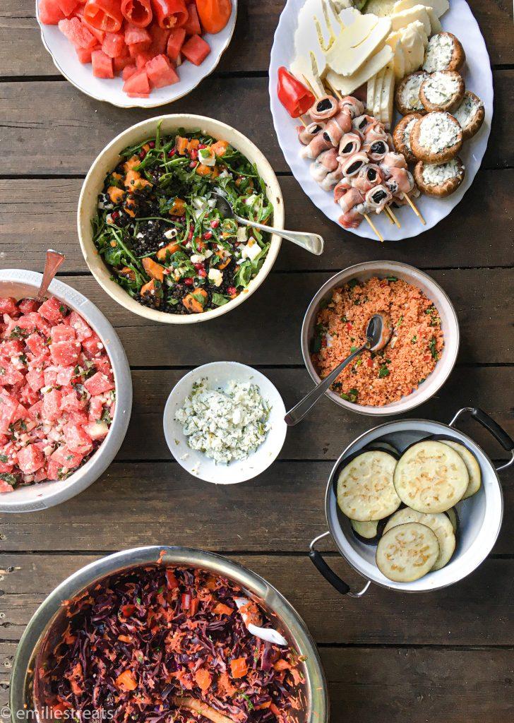Vegetarisch Grillen und Salat-Rezepte, die satt machen